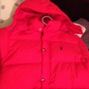 Red Ralph Lauren Winter Coat